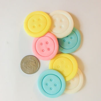 Fondant buttons edible buttons large 40 count cupcake toppers chocolate covered oreo toppers baby girl/ boy shower edible decoration