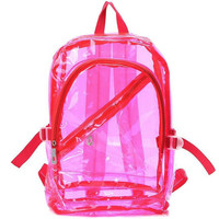 CLEAR JELLYBEAN BACKPACK PINK – tibbs & BONES