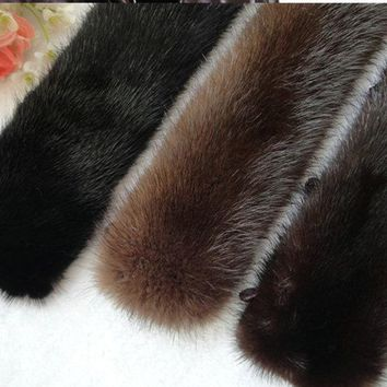 Free shipping Mink fur collar high-grade men collars imported mink collar brown/black