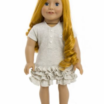 Treasured Dolls - Light Skin with Long Curly Red Hair and Beautiful Blue Eyes