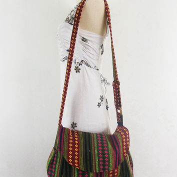 Vintage Hobo Bag Women Hippie handbags Boho bag Crossbody bag  Sling Cotton Shoulder Messenger bag Tote Purse