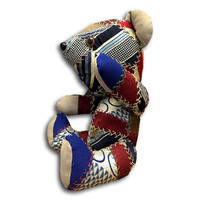 Heirloom Vintage Musical Patchwork Teddy Bear