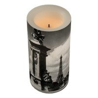 Alexander III Bridge and Eiffel Tower in Paris Flameless Candle