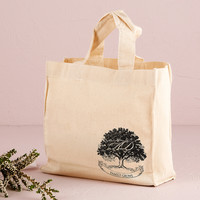 Tree Monogrammed Wedding Welcome Tote Bags