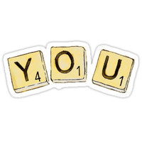 'dodie you ep scrabble squares' Sticker by abbyycz