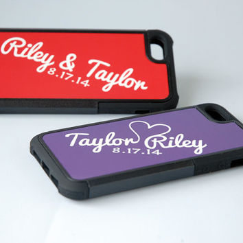 Matching Personalized Phone Cases for Best Friends, Couples, Parents, Grandparents, iPhone 4, 4s, 5, 5s, 5c, 6, 6+ Case, Galaxy S4, S5 Case