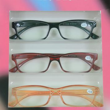 Ellen Tracy 3 Pairs Premium Reading Glasses Red Orange Readers