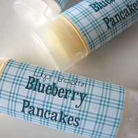 Blueberry Pancakes Flavor - Lip Balm - Natural - Vegan - Maple blueberry Flavor - No sweeteners - Bath and Beauty  -Home and Living