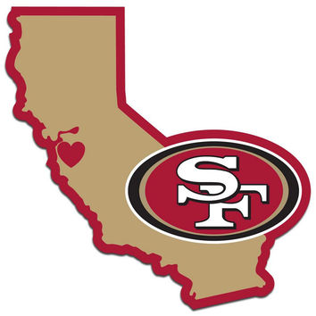 San Francisco 49ers Home State Decal FHSD075