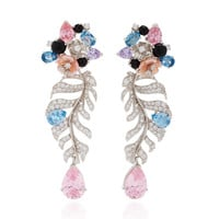 M'O Exclusive Rose Quartz Palm Earrings | Moda Operandi
