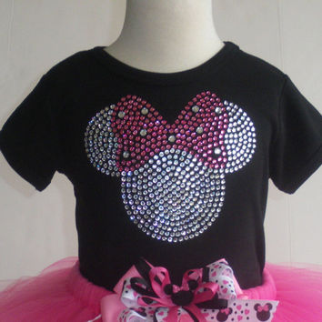 24 mos-2T clear/PINK Minnie Mouse T-SHIRT for Disney costume