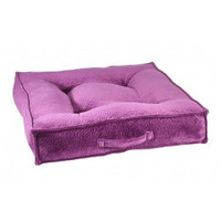 MicroVelvet Square Piazza Dog Bed — Magenta