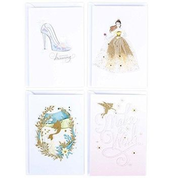 Hallmark Signature Disney 4 Cards Assortment, Funny Birthday Card - Free Shipping
