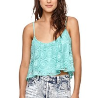 LA Hearts Crochet Swing Cami - Womens Shirts -