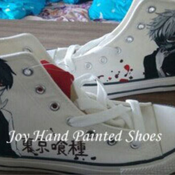 cec7a167eca9 Custom Anime Tokyo Ghoul Shoes Custom Hand Painted Converse Shoes for Men  Women