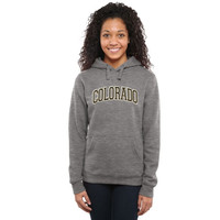 Colorado Buffaloes Ladies Arch Name Pullover Hoodie - Gunmetal