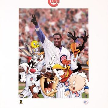 Looney Tunes Chicago Cubs - Limited Edition Lithograph on Paper by Warner Bros.