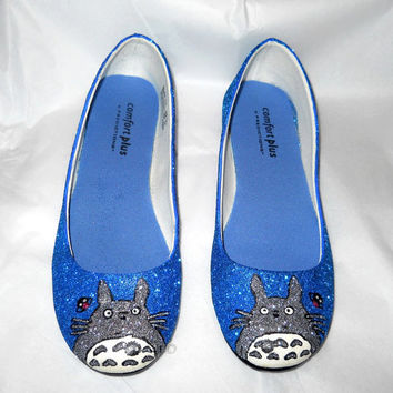 Totoro Glitter Shoes