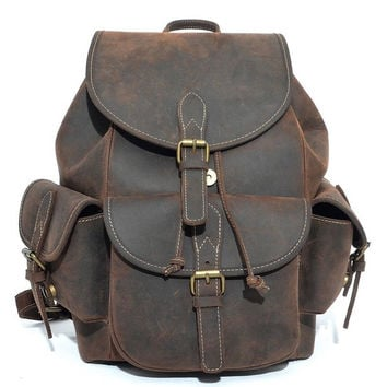 Copenhagen Leather Backpack in Vintage Brown