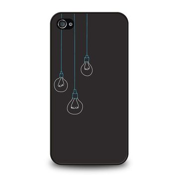 BLACK LIGHT BULBS MINIMALISTIC iPhone 4 / 4S Case