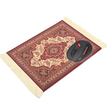 180 x 280mm Vintage Gaming Mouse Pad Woven Rug Mousepad Rubber Mouse Mat Square Keyboard Mat Gamer Table Mat Office Home Gift