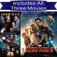 Iron Man Trilogy DVD Set Includes all 3 Movies