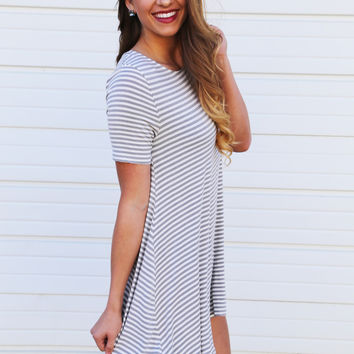 Weak In The Knees Striped Dress