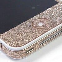 Cool Sand Colour Shiny Rhinestone Full Body Cover Skin Sticker Shield