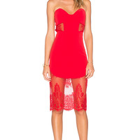 NBD x REVOLVE Picture Me Dress in Red