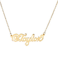 Personalized @Name Plate Necklace
