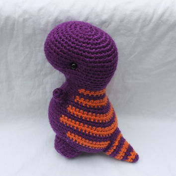 Crocheted stuffed dinosaur