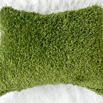 $35.00 green grass carpet pillow cover by pillowhappy on Etsy