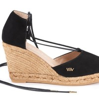 Aro Suede Wedges - Black