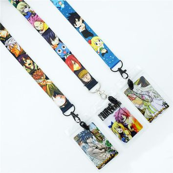 Japan Anime FAIRY TAIL Neck Strap Lanyards Cute ID Card Gym Mobile Phone Strap Badge Holder Rope Key Chain Cosplay Gift New
