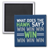 What Does The HAWK Say? Blue Magnet