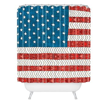 Bianca Green USA Shower Curtain