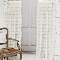 Chichi Petal with Silk Velvet Header Window Curtain - Home Decor | Couture Dreams