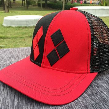 Trendy Winter Jacket Suicide Squad Harley Quinn Baseball Hat Adult Boys Girls Hip Hop Net Adjustable Snapback Caps Cosplay Coustume Accessories AT_92_12