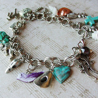 Arizona Cowboy Bracelet from the Heart of Route 66 Cowgirl charm bracelet Rodeo style bracelet