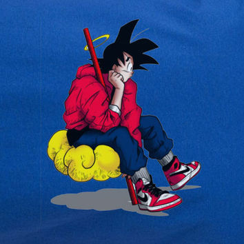 Dragonball Dragon Ball Goku Chilling Hip Hop Nike Swag Tee T-Shirt