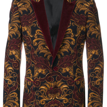 Dolce & Gabbana Printed Velvet Smoking Jacket - Farfetch