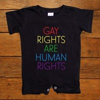 Gay Rights Are Human Rights -- Baby Onesuit