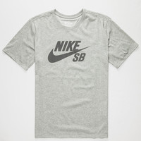 Nike Sb Dri-Fit Reflective Icon Mens T-Shirt Heather  In Sizes