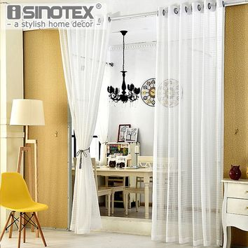 Fashion  Window Curtain Blackout Blinds Panel Polyester Woven Home Decor Living Room Sound-absorbing Heat-insulating Drape