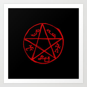 Devil's Trap - Supernatural Art Print by KanaHyde