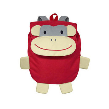 Green Sprouts Safari Backpack Red Monkey
