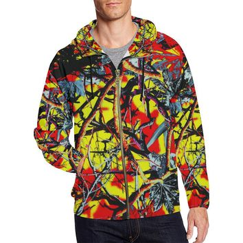 Country Boy Design 1 Men's All Over Print Full Zip Hoodie