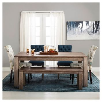Braxton Rustic Hardwood Dining Table