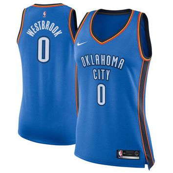Women's Oklahoma City Thunder Russell Westbrook Nike Blue Swingman Jersey - Icon Edition