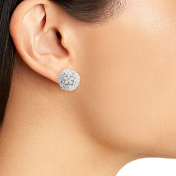 Nina Front to Back Flower Ball Earrings | Nordstrom